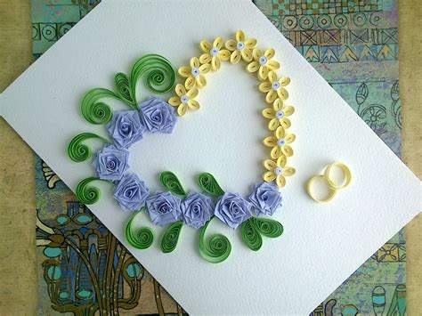 card with quilling paper wedding cards make paper quilling wedding card with