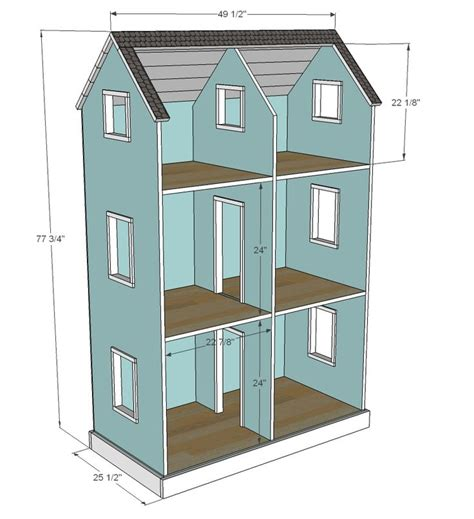 18 inch doll house plans free best 25 doll house plans ideas on