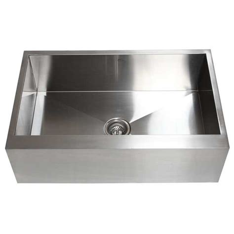 stainless steel apron front kitchen sink 33 inch stainless steel flat front farm apron single bowl