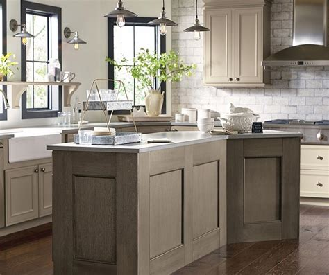 Two Color Kitchen Cabinet Ideas taupe kitchen cabinets decora cabinetry