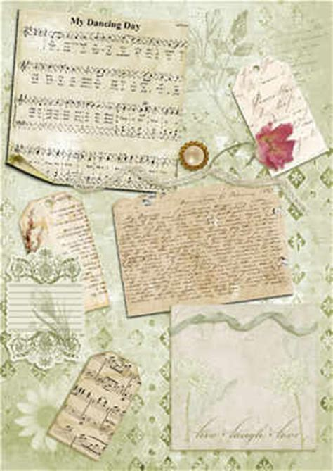 backing papers for card script and tags collage backing paper