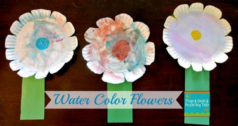 paper plate flower craft watercolor paper plate flower craft fspdt