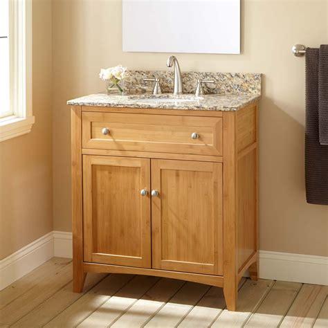 narrow bathroom sink vanity 30 quot narrow depth halifax bamboo vanity for undermount sink