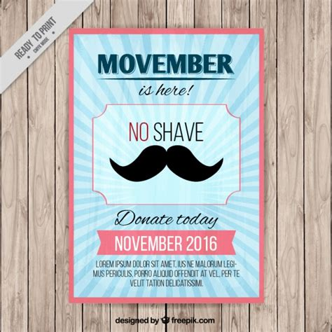 poster for blue poster for movember vector free
