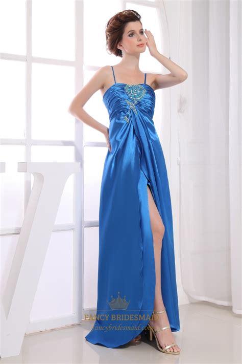 beaded empire waist dress spaghetti dress with beaded empire waist split