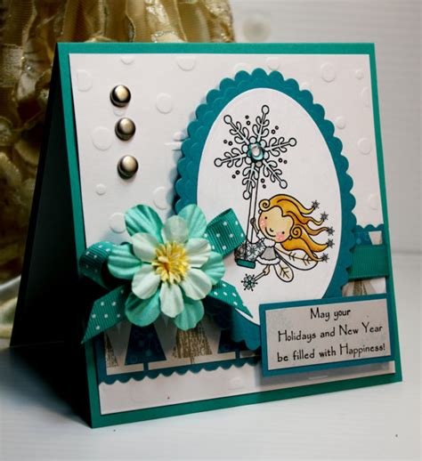 new year card handmade card handmade greeting card may your holidays