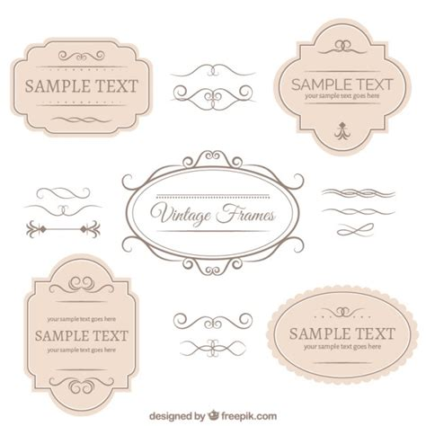 vintage ornaments vintage badges and ornaments collection vector free