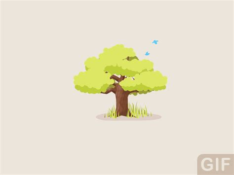 tree gifs animated tree of seasons gif by dennis hoogstad dribbble