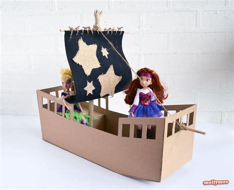 cardboard crafts for mollymoocrafts diy cardboard pirate ship craft tutorial