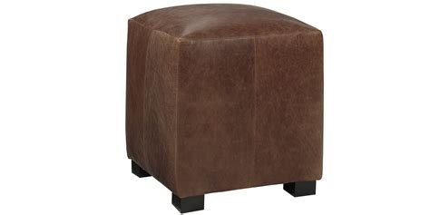 leather cube ottomans leather cube ottoman adeco brown bonded leather contrast