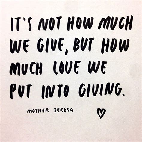 quotes on gifts teresa quotes on giving quotesgram