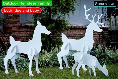 outside reindeer cool decorations for outside your house