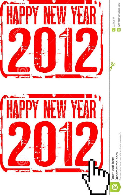 happy new year rubber st 2012 rubber st stock photography cartoondealer