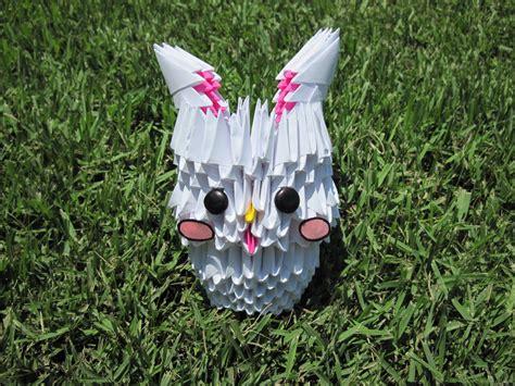 3d origami rabbit 3d origami bunny by mokonaisamokona on deviantart