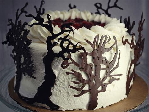 cake tree decorations black forest cake with tree decorations