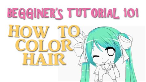 how to color in speedpaint beginners how to color hair easy