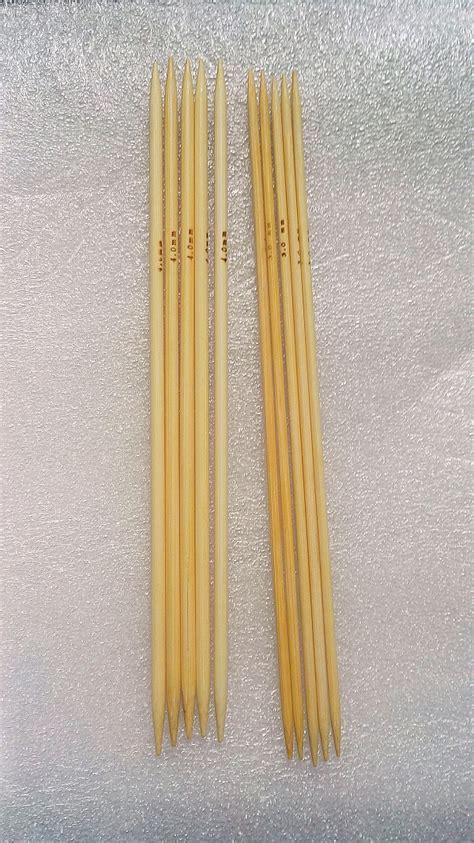 3mm knitting needles 3mm 4mm 10pcs bamboo sock knitting needles