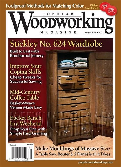 popular woodworking books popular woodworking 212 august 2014 187 hobby magazines