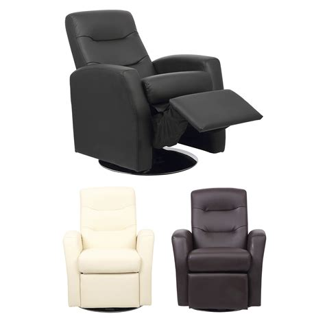 faux leather living room furniture reclining swivel chair living room furniture padded