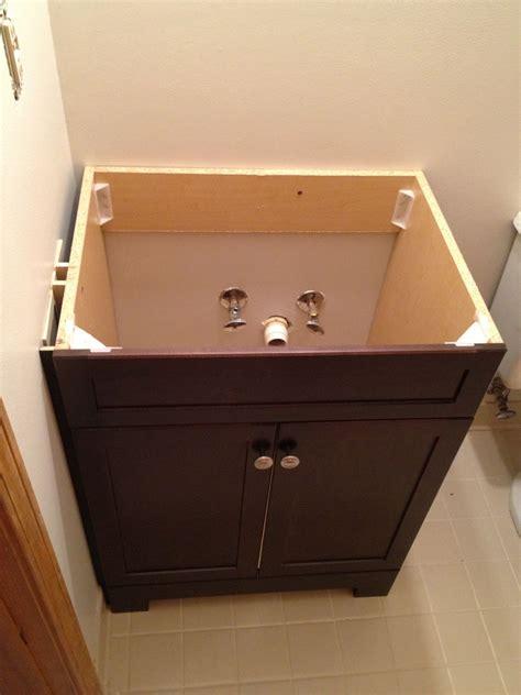 installing bathroom vanity top how to replace and install a bathroom vanity