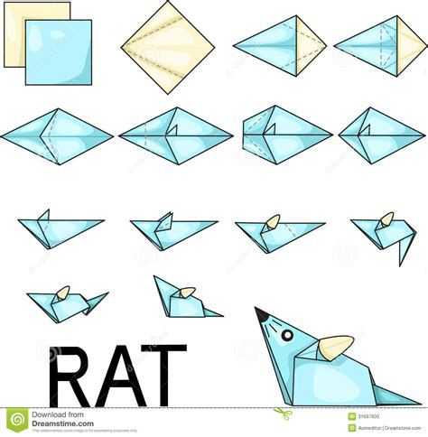 origami san boat origami rat stock photo image 31697600