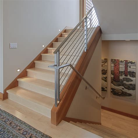stair banister ideas staircase contemporary with dark wood