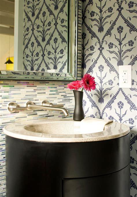 Backsplash Tile Ideas For Bathroom create a smashing powder room traditional home