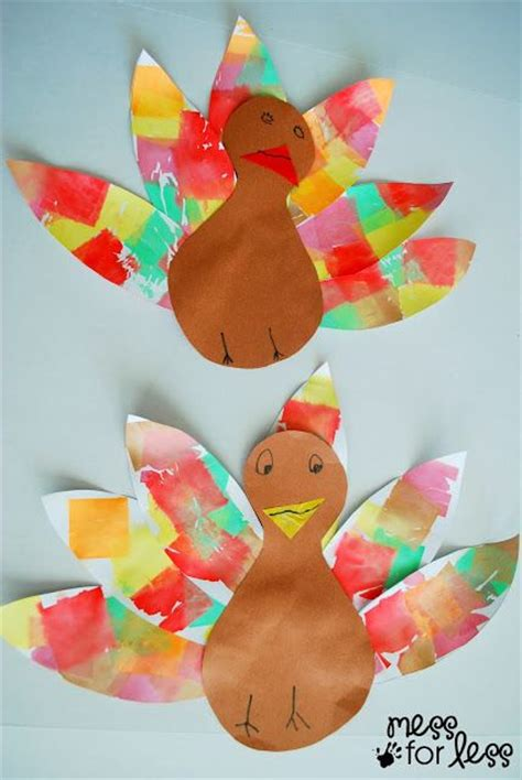tissue paper turkey craft tissue paper turkey craft tissue paper feathers and