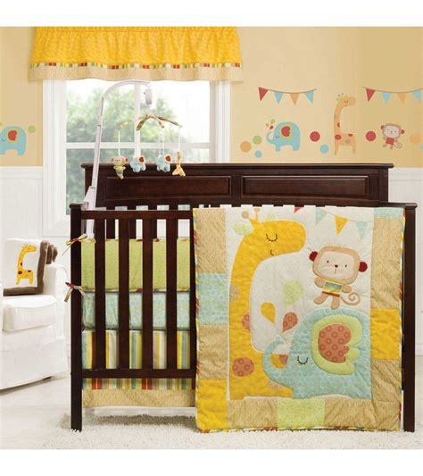 jungle crib bedding graco jungle friends 4 crib bedding set by kidsline