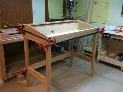 standing desk woodworking plans standing desk by scottt lumberjocks woodworking