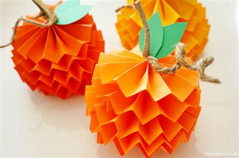 construction paper crafts for fall diy decor how to make paper pumpkins for fall aol lifestyle