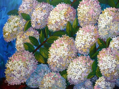 acrylic painting hydrangeas janet zeh original watercolor and paintings