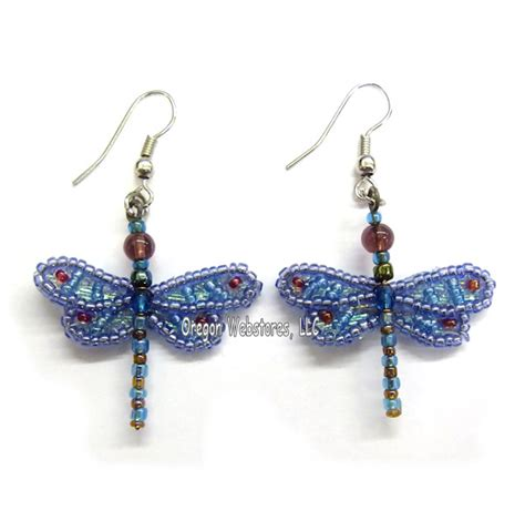 beaded dragonfly earrings bug gifts butterfly supplies and birthday gifts