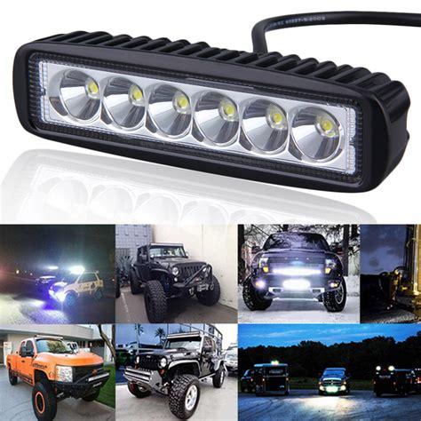4x4 led light bar 6 inch mini 18w led light bar 12v 24v motorcycle led bar