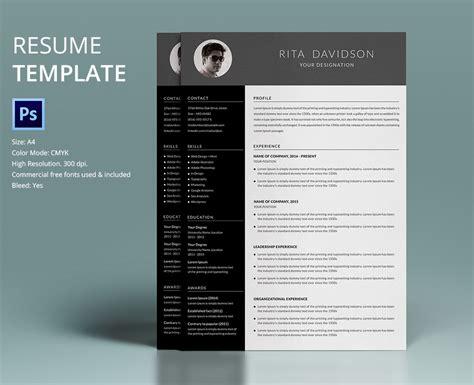resume templates free download 40 resume template designs freecreatives