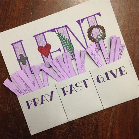 prayer crafts for look to him and be radiant lent pray fast give printable
