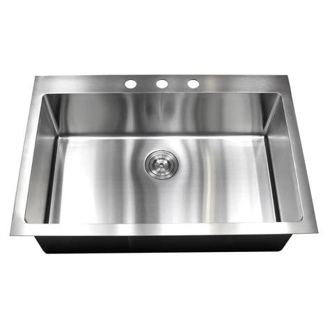 stainless steel kitchen sinks top mount 33 inch top mount drop in stainless steel single bowl