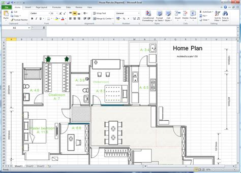 how to draw a floor plan for a house create floor plan for excel