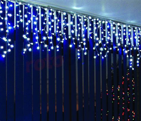 rideau lumineux pour l ext 233 rieur led stalactites bleus 60 233 l 233 ments bulinex 38 626