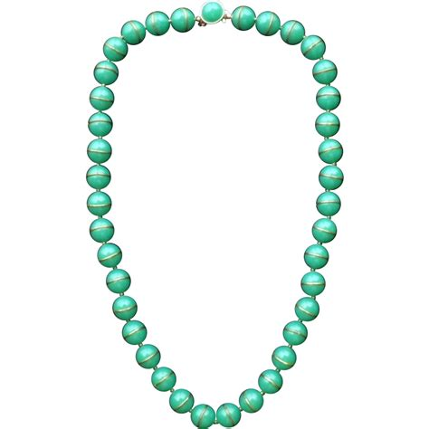 plastic bead necklaces vintage signed trifari early plastic bead necklace from