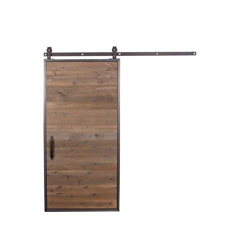 barn door wood rustica hardware 42 in x 84 in mountain modern wood barn