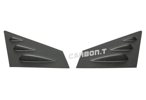 matte black side vent window louver for subaru wrx sti 4d