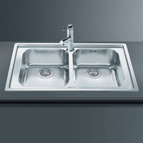 smeg kitchen sinks available the rigae 2 0 bowl sink stainless steel smeg sinks