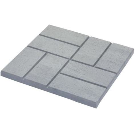 rubber st one day service emsco 16 x 16 in plastic and lightweight brick pattern