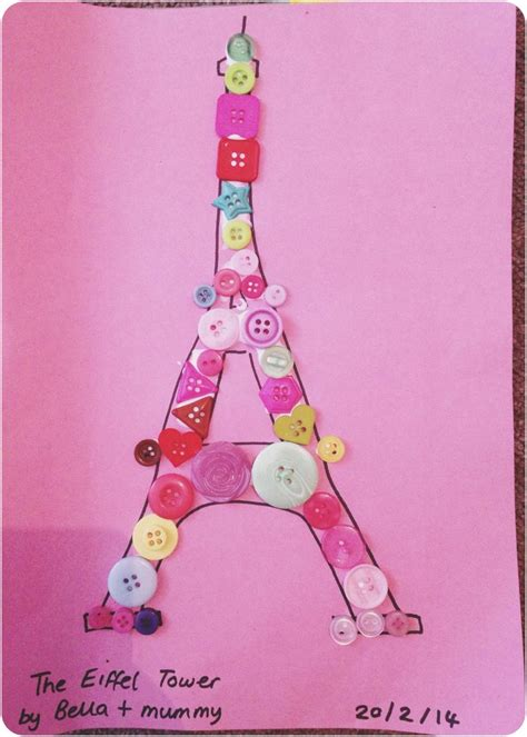 Button Craft Eiffel Tower Tiny Tourists