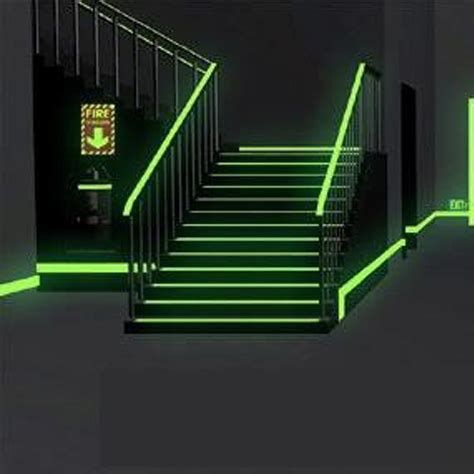 glow in the paint safety escapes signs safety way guidance photoluminescent