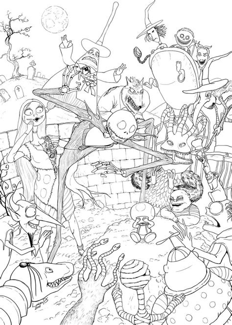 tim burton s the nightmare before coloring book for everybody toad s nightmare what s this by lucasparolin on deviantart