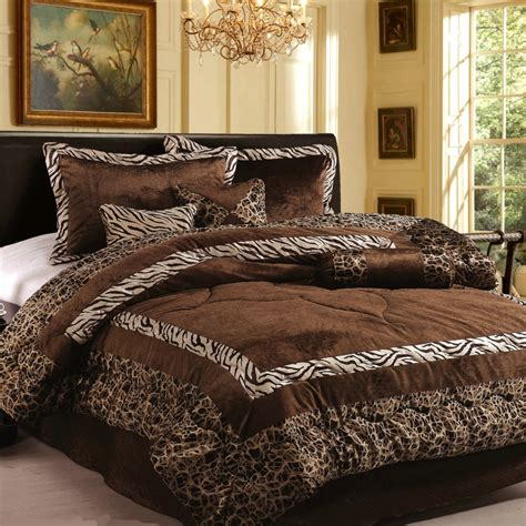 brown comforter set king new 7pc in set luxury safarina brown zebra animal bedding