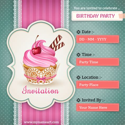 Create Birthday Invitations Card Free