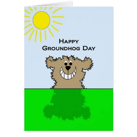 groundhog day used to something happy groundhog day greeting card zazzle